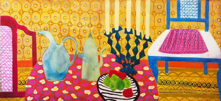 Dian Leach Large California Post Impressionist Interior