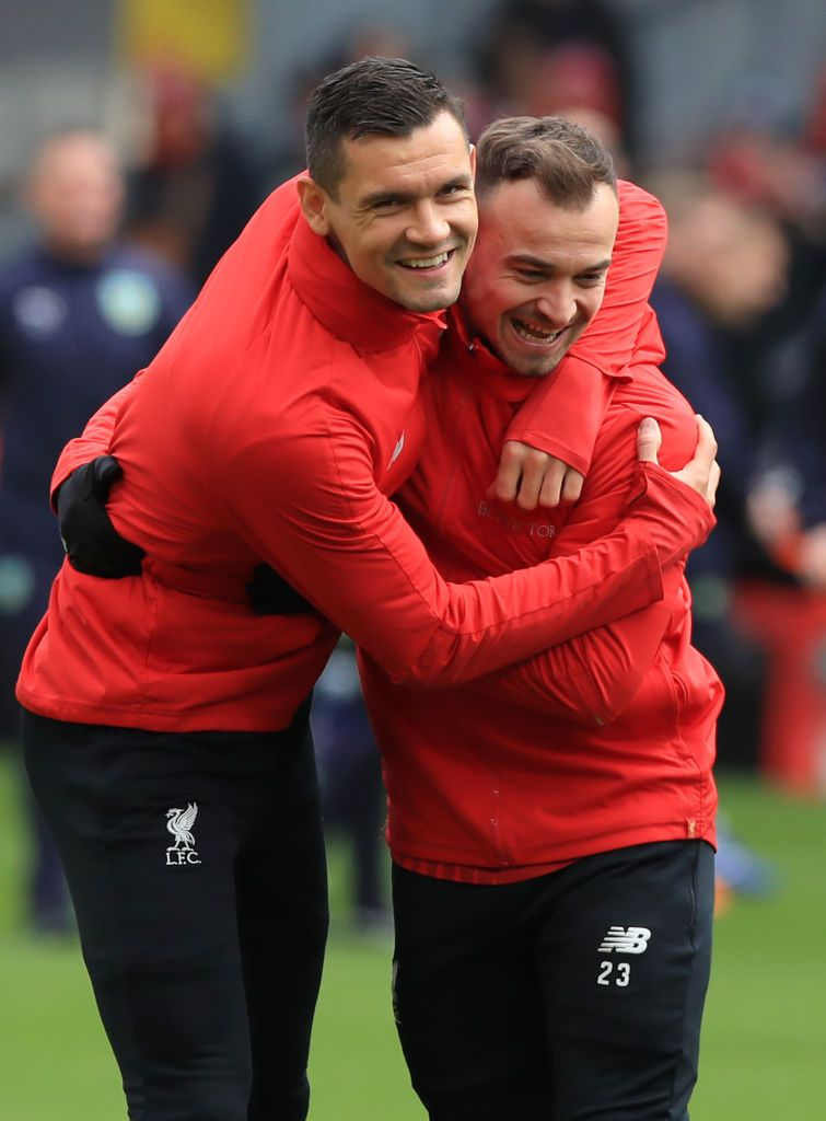Liverpool S Dejan Lovren And Liverpool S Xherdan Shaqiri Ahead Of The Dejan Lovren Liverpool Premier League Matches