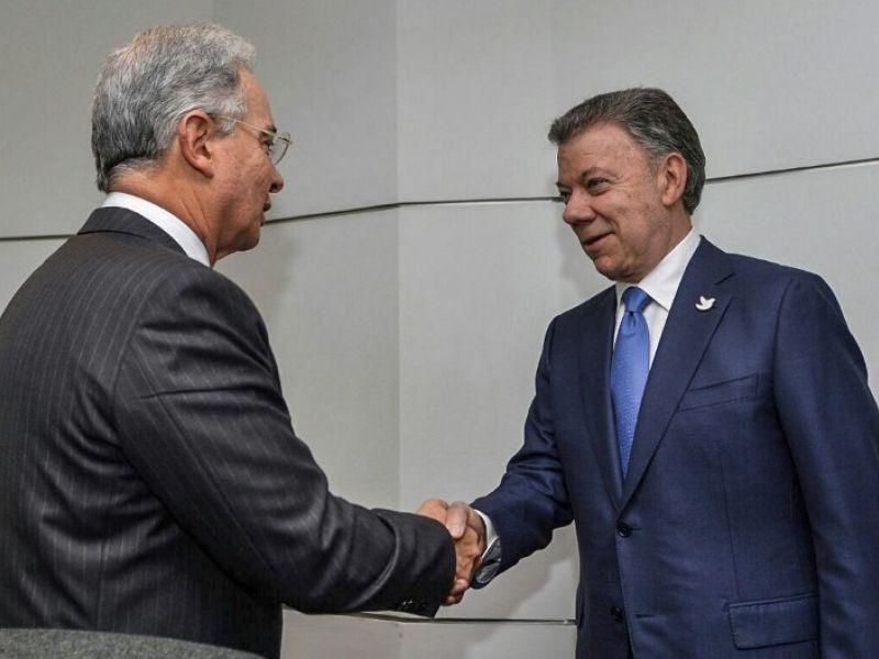 Santos y Uribe mantienen diferencias tras primera reunión para destrabar negociaciones de paz - Publimetro Chile