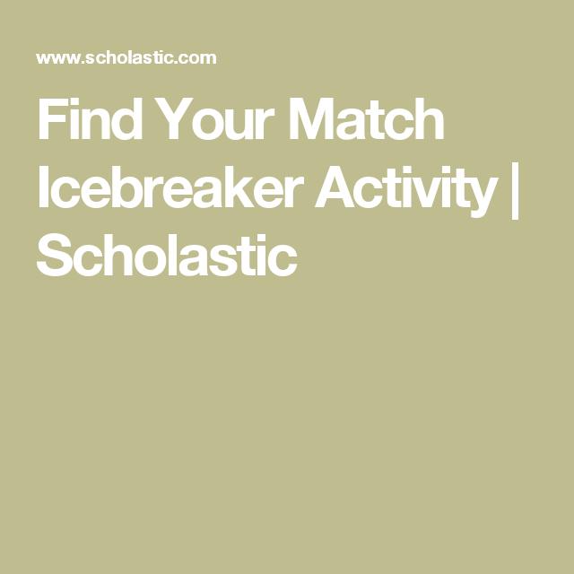 Match icebreakers