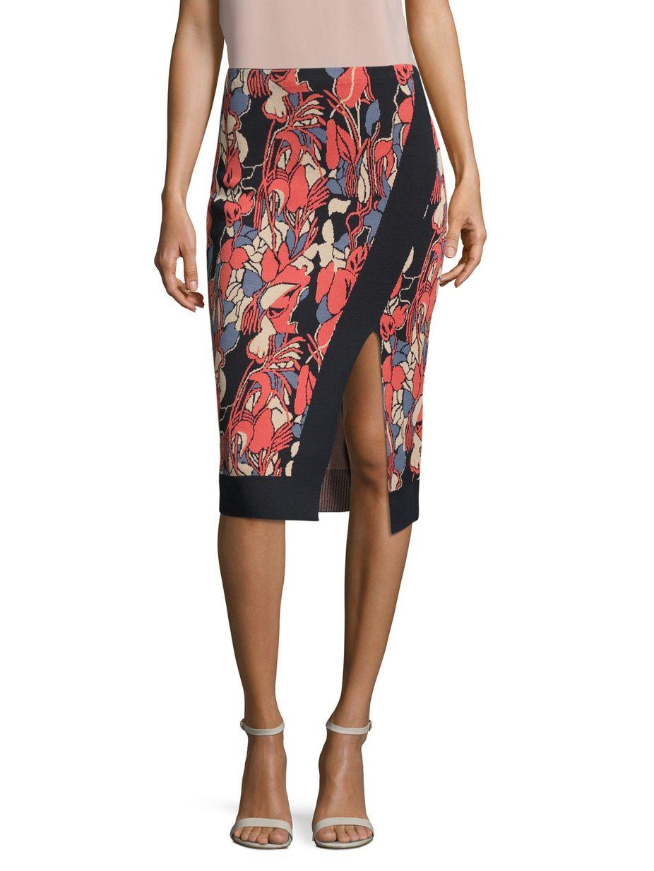 440e7c52ad96 Rachel Rachel Roy Crossover Floral Intarsia Pencil Skirt