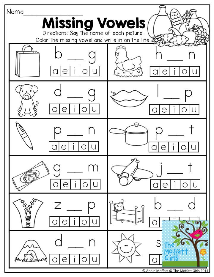 Printable Worksheets writing cvc words worksheets : November NO PREP Math and Literacy (Kindergarten) | Pre-school ...