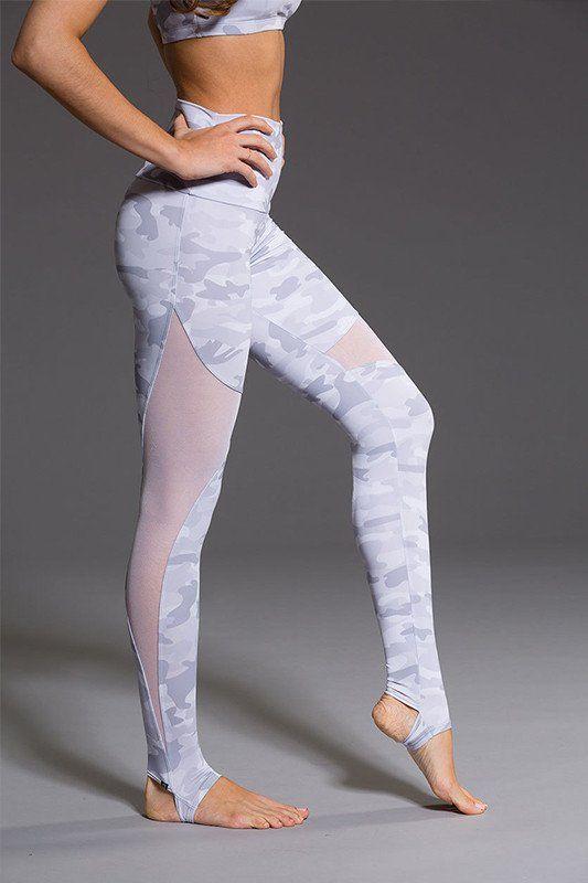 fd4fac0266adb ONZIE High Rise Stirrup Legging - Grey Camo | YOGA LEGGINGS ...