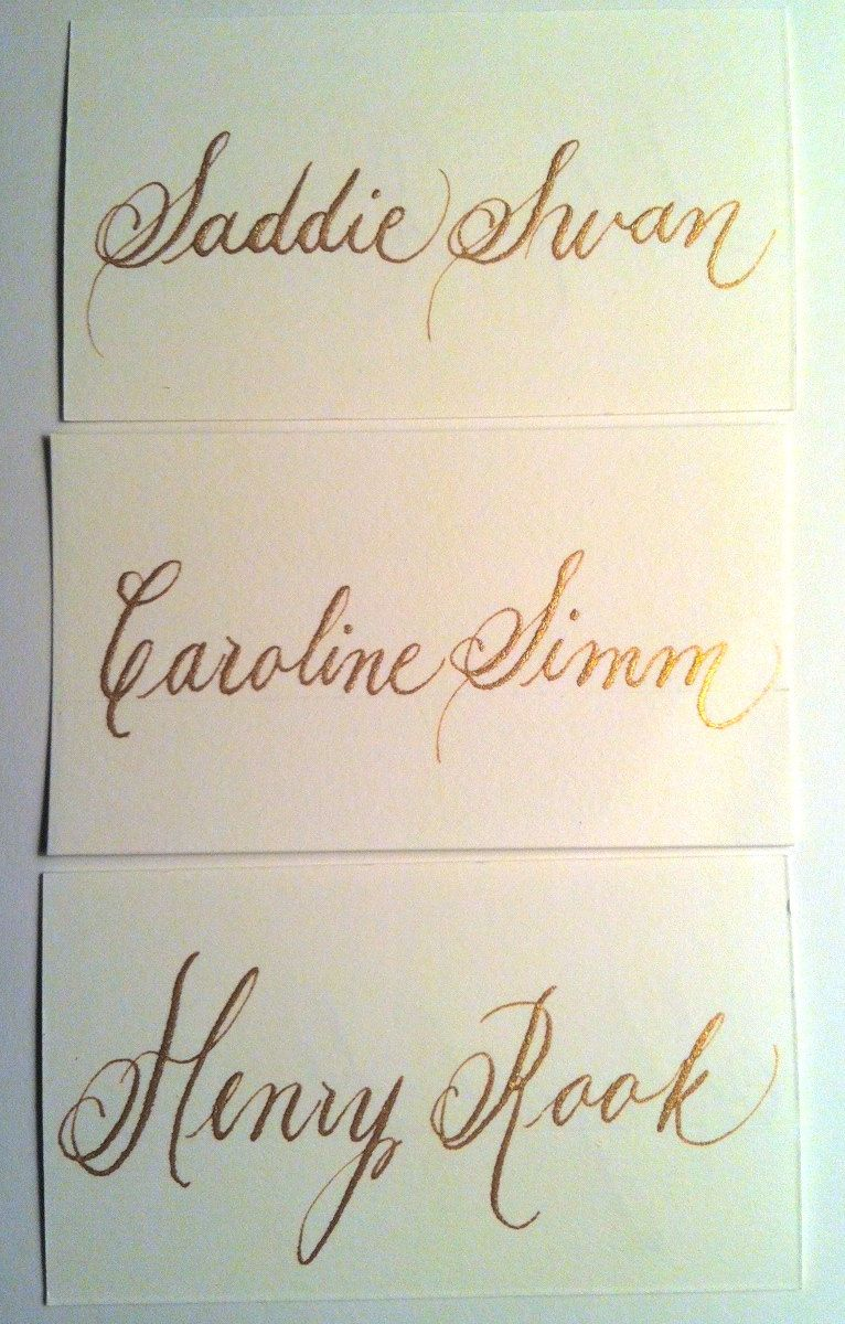 Custom And Affordable Wedding Place Card And Escort Card