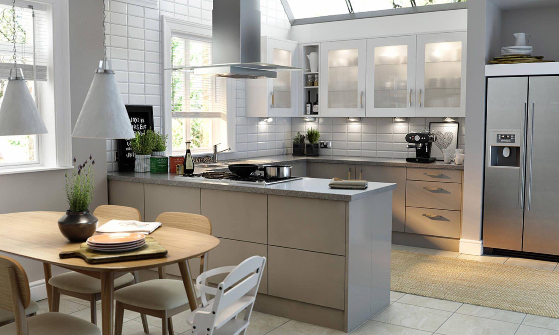 Autograph Stone Grey Gloss Kitchen image 1 (con imágenes