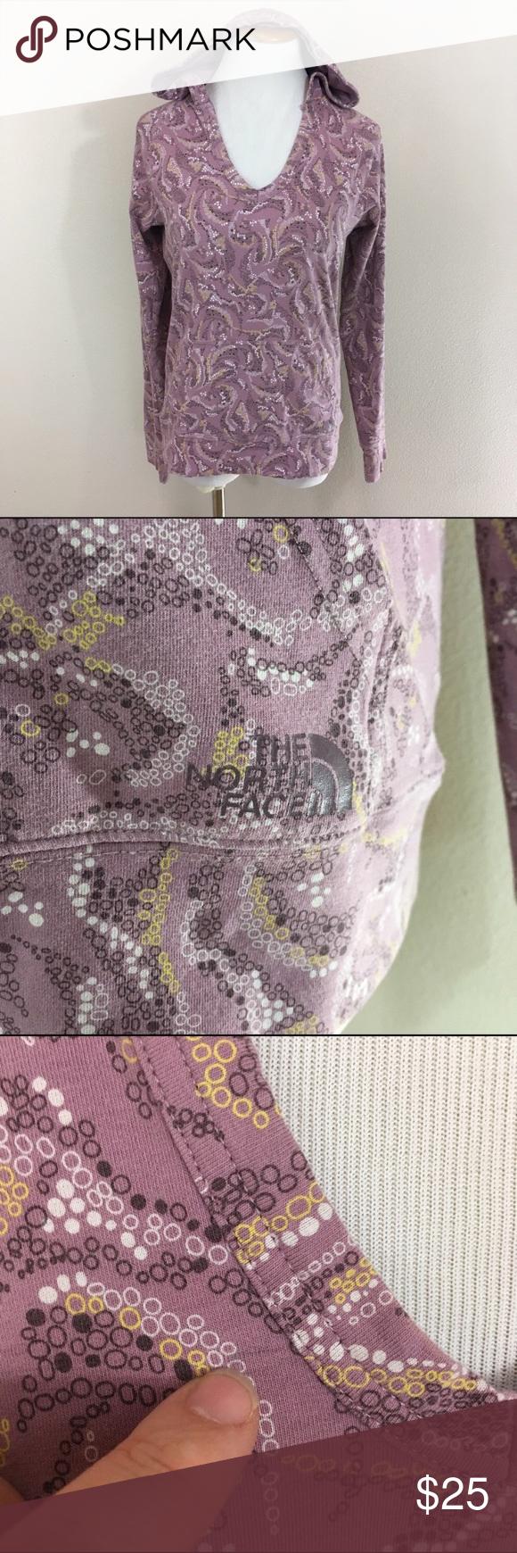 The North Face Purple Pullover Hoodie Top Medium N North Face Tops Sweatshirts & Hoodies