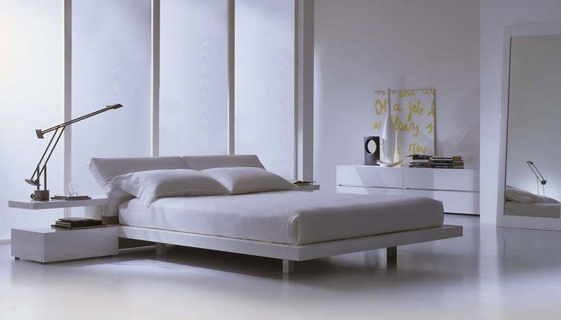 Charming White Color Modern Italian Furniture Minimalist Design Contemporary Bedroom Furniture Modern Bed Italian Bedroom