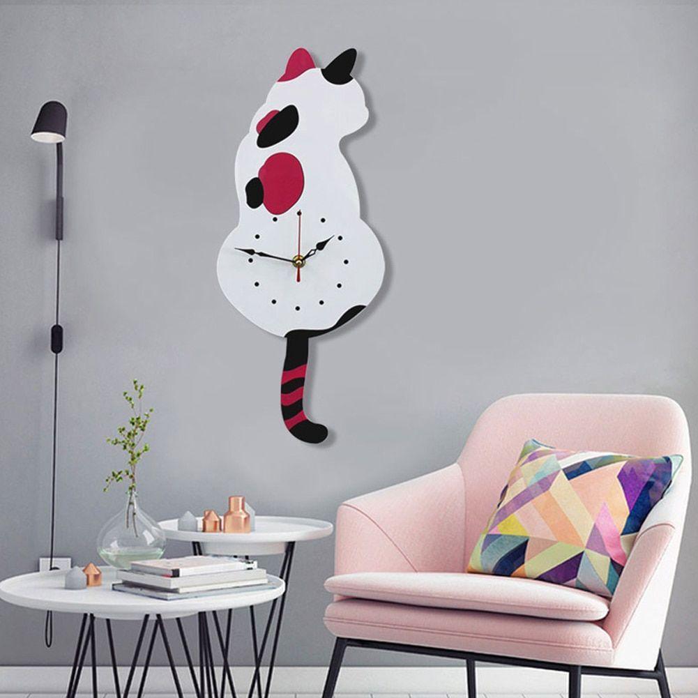 gift #gift gift cartoon #giftcartoon  Tags: #giftforteens , #giftforwomen , #giftideas , #giftforboyfriend , #giftforbestfriends , #giftbox , #giftforguys , #giftformen ,  gift ideas , gift for men , gift for women , gift box , gift for boyfriend , gift for teens , gift for best friends , gift for guys Buy Cute Cat Quartz Pendulum Clock Swinging Tail a