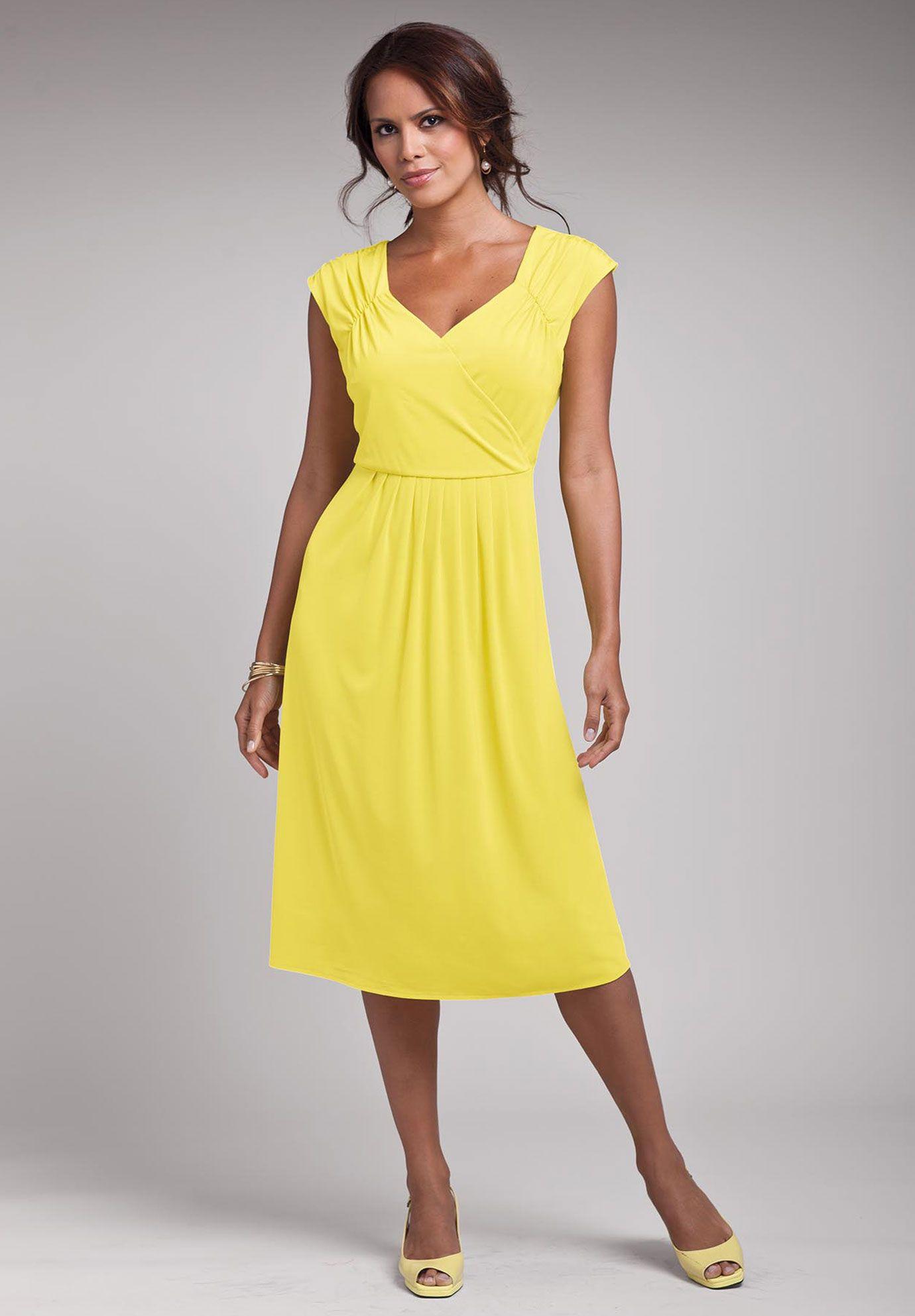 Plus Size Solid Empire Waist Dress Plus Size Casual Work