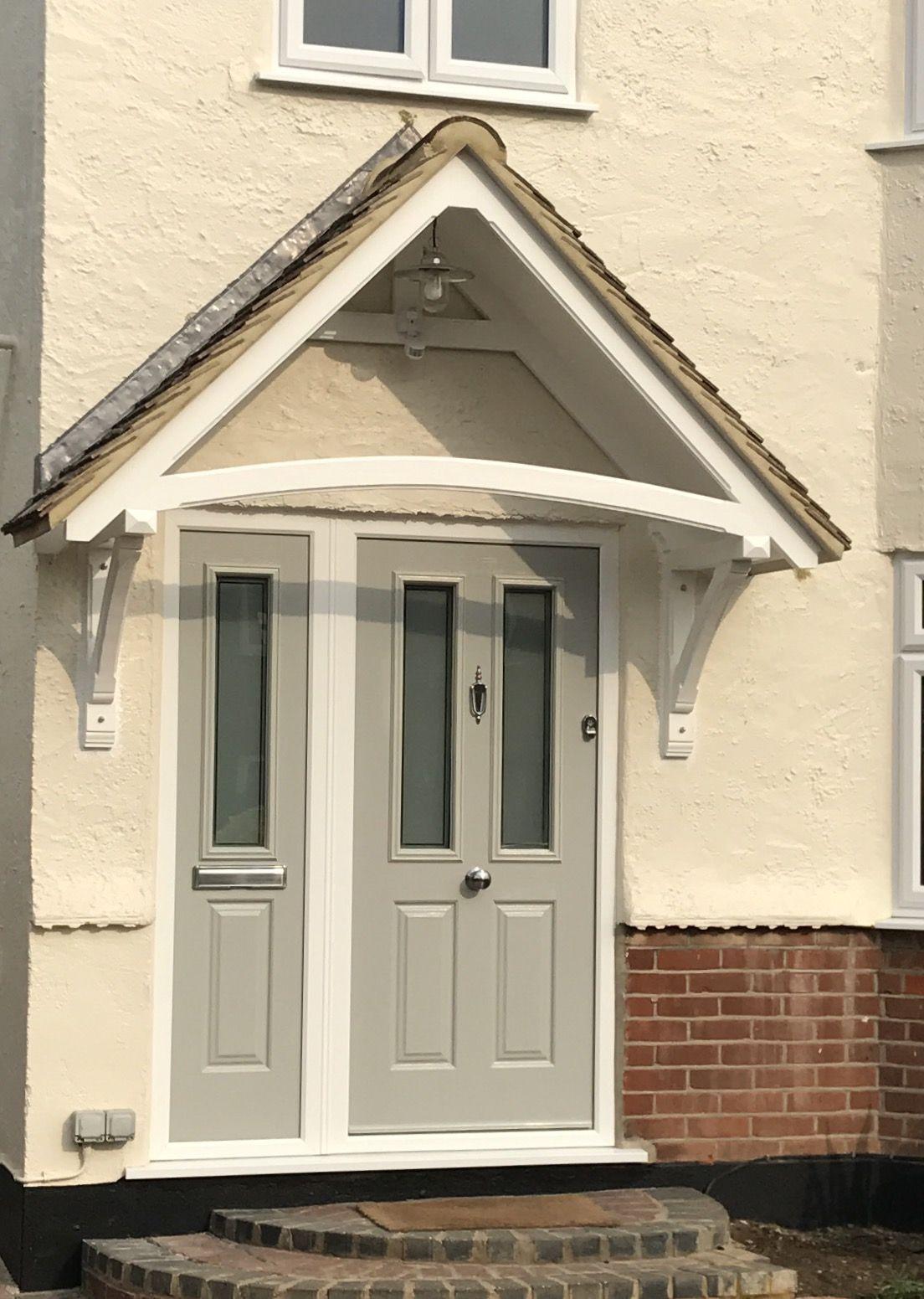 Endurancedoor Pearlgrey Composite Sidepanel Frontdoor Canopy 1940s Semidetached Northweald Composite Front Door 1940s Home Front Door