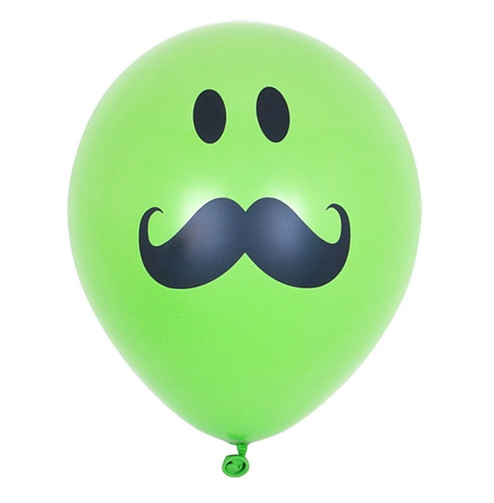 20X Latex Smile Mustache Blue balloons Decoration Birthday Baby shower Party