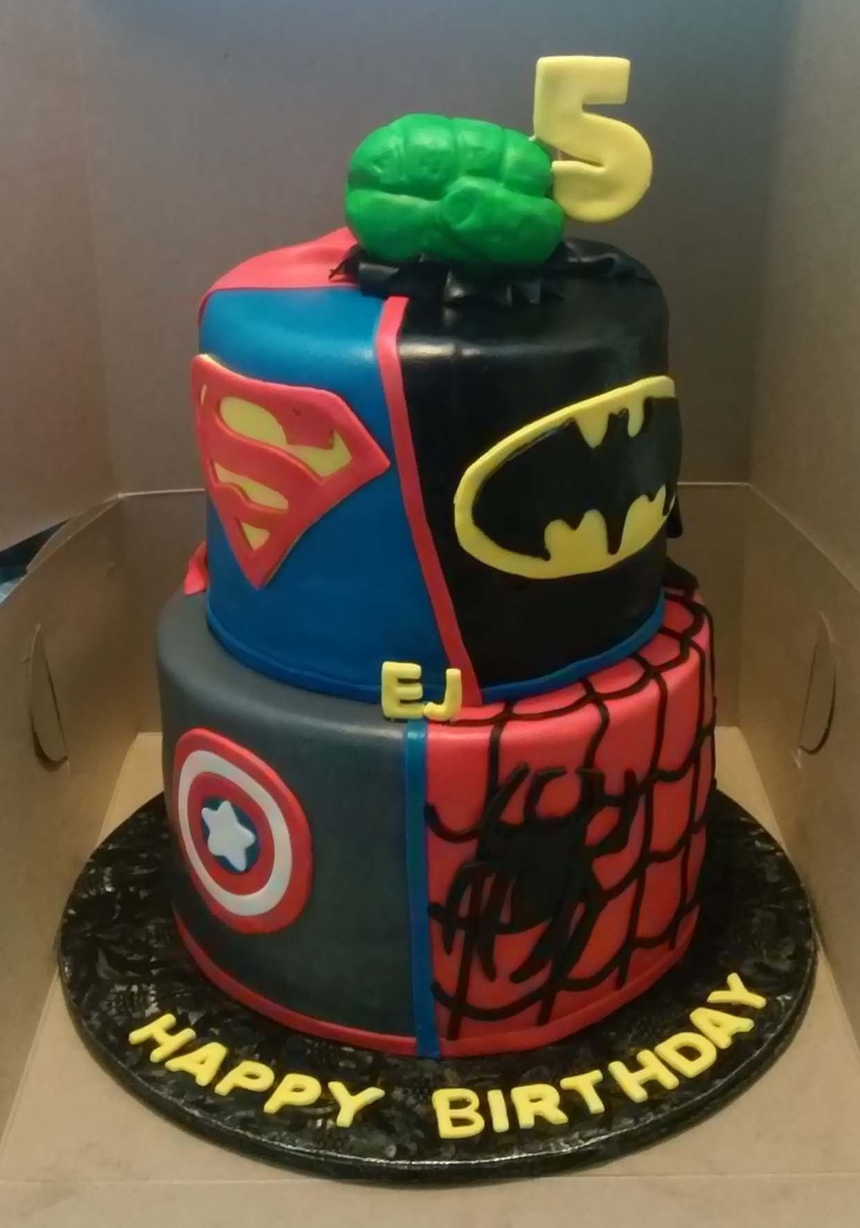 30+ Brilliant Picture of Marvel Birthday Cakes | Birthday Cake ...