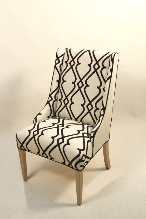 Black And Cream Accent Chairs