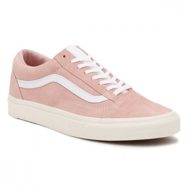 de6bfde432cede Vans Womens Pink Blossom True White Retro Sport Old Skool Trainers ( 79) ❤  liked on Polyvore featuring shoes