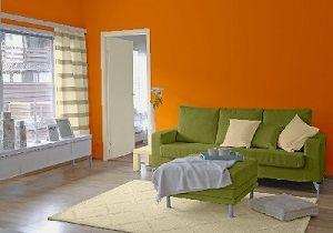 Farbgestaltung Fr Ein Wohnzimmer In Den Wandfarben Mango Bamboo Cream