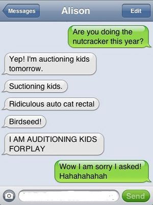 text message meme 022 auttocorrect auditioning kids | Funny