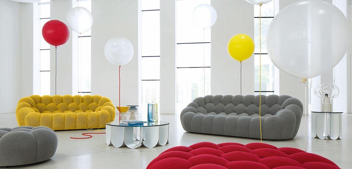 Grand Canapé 3 Places Bubble Roche Bobois Design Sacha Lakic
