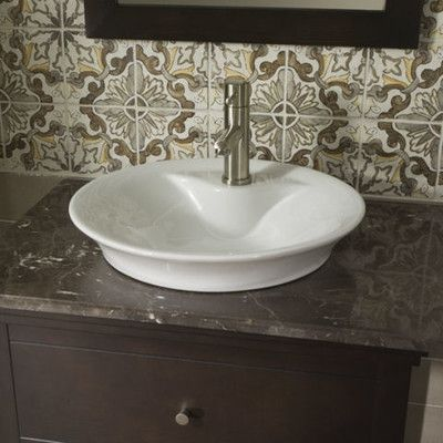 American Standard Vitreous China Circular Vessel Bathroom Sink
