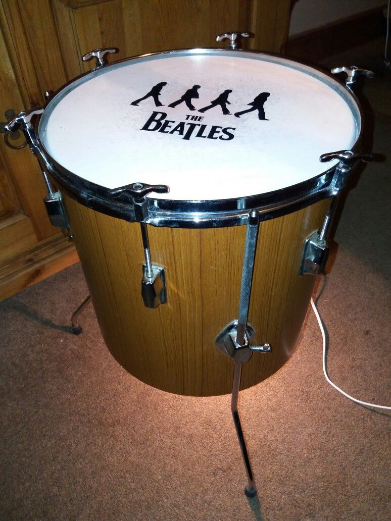 Upcycled TomTom drum table and lamp | Lamps | Drum table