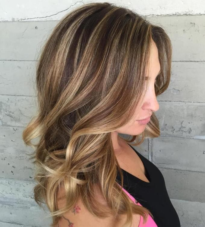 Chocolate And Blonde Balayage Hair