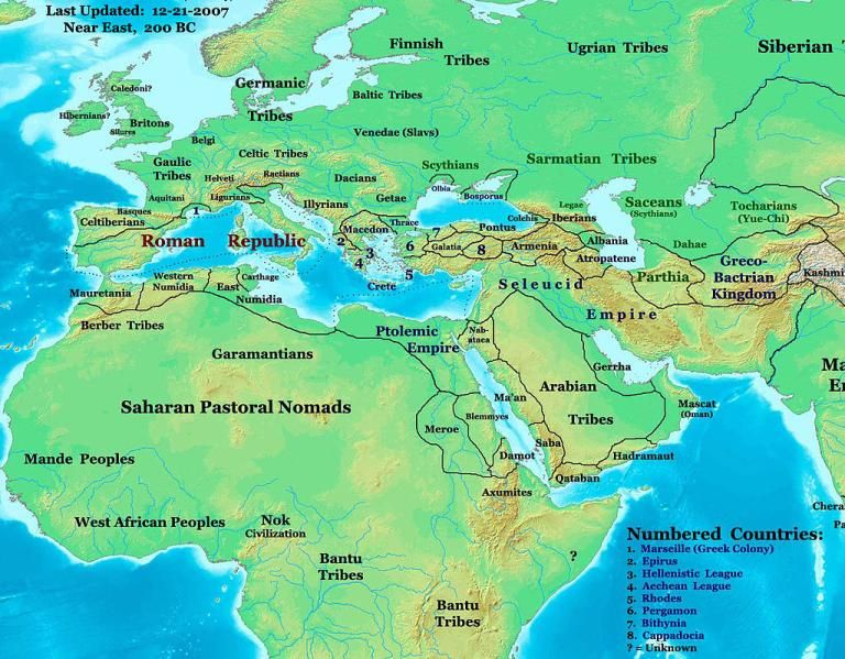 A map of the kingdoms of the western world including rome carthage a map of the kingdoms of the western world including rome carthage and gumiabroncs Choice Image