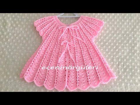 Tığ İşi Su Dalgası Prenses Bebek Yeleği/Kız Bebek Yelek/baby dress - YouTube