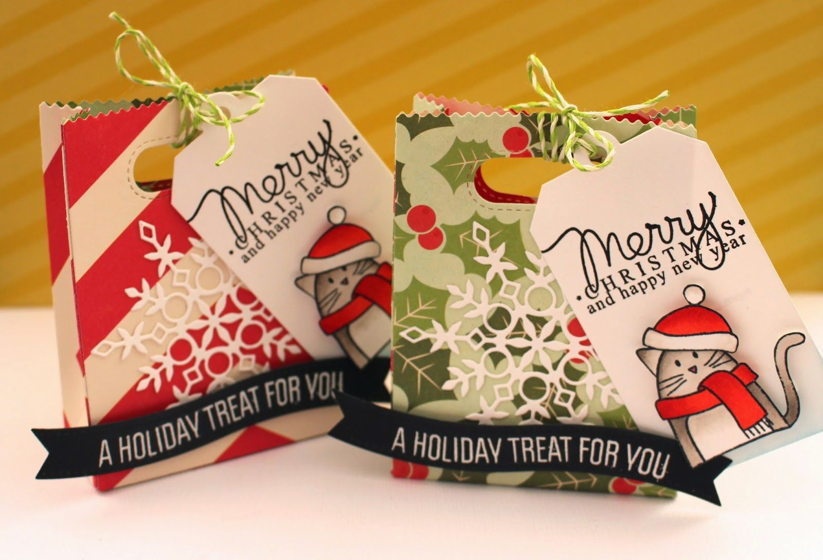 christmas goodie bags ft lawn fawn, mama elephant & simon days stamp ; by eloise blue