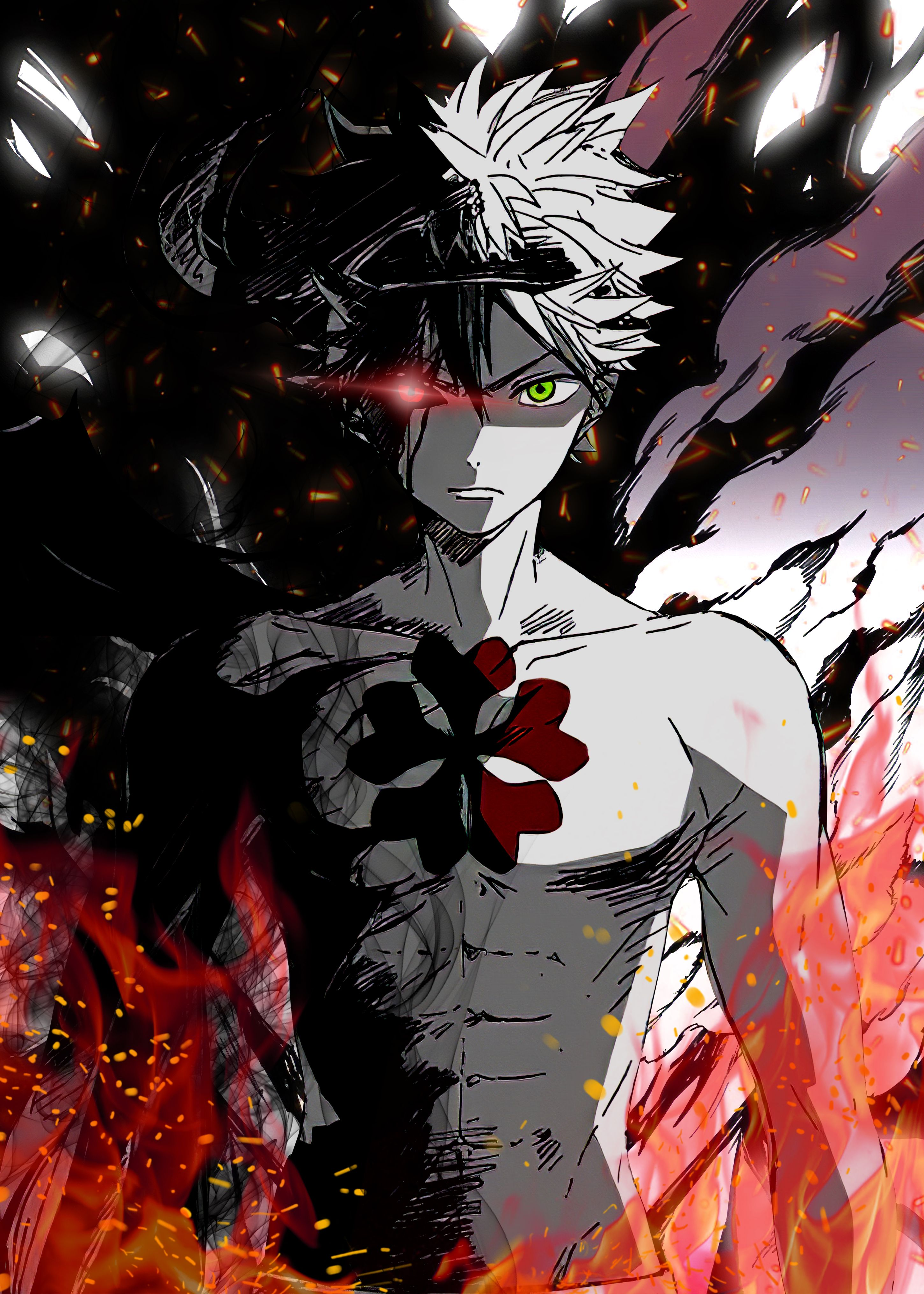 asta metal poster black clover anime
