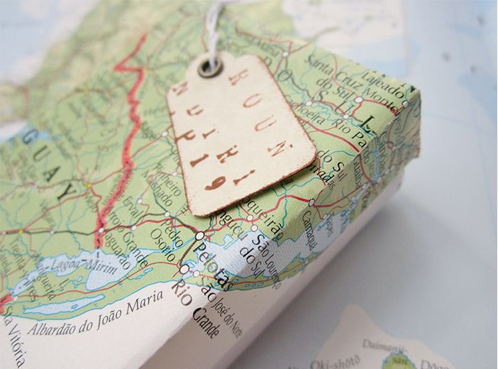 Eco friendly holiday gifts eco friendly wrapping gift holidays eco friendly wrapping use an old map from a memorable trip with the person you are gifting or a map from their hometown gumiabroncs Images