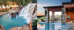 Top 60 Best Home Swimming Pool Tile Ideas - Backyard Oasis Designs #backyardoasis