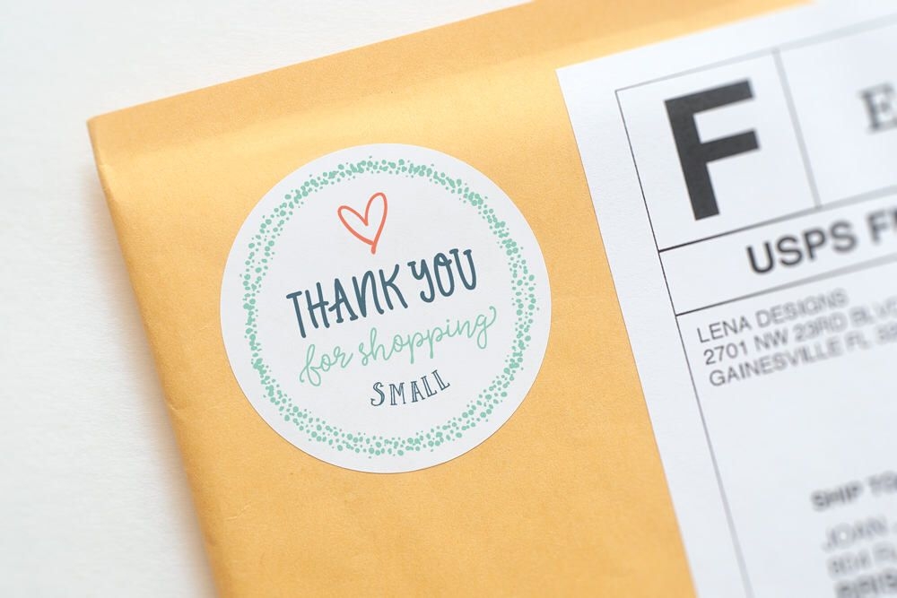 Thank you for shopping small sticker packaging stickers thank you stickers business stickers