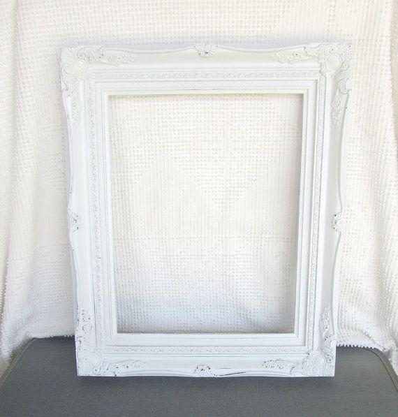 Shabby chic white large ornate open resin frame gallery wall shabby chic ornate vintage frame