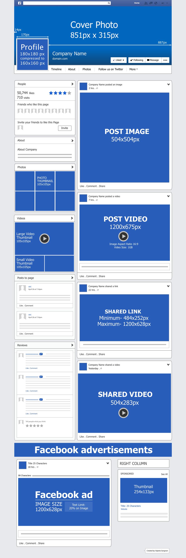 facebookpostdimensions Marketing Pinterest Grid