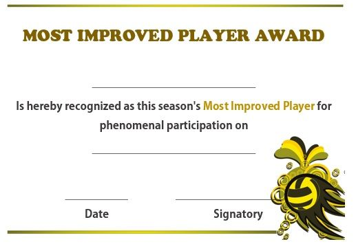 Volleyball most improved player award volleyball certificates free free award certificates 19 best volleyball certificates free printables images on yadclub