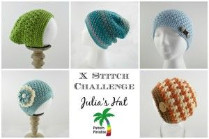 X Stitch Challenge Crochet Pattern for Julia Hat by Pattern Paradise