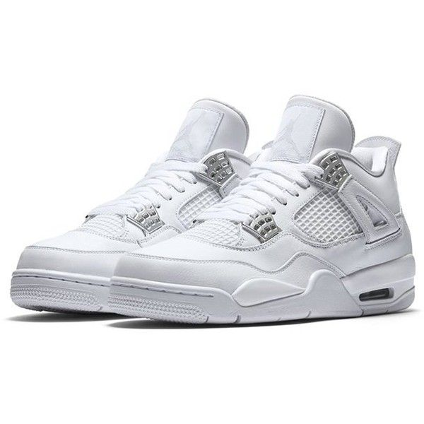 sale retailer 0a0e1 eef69 Air Jordan 4 (Pure Money) ❤ liked on Polyvore featuring shoes