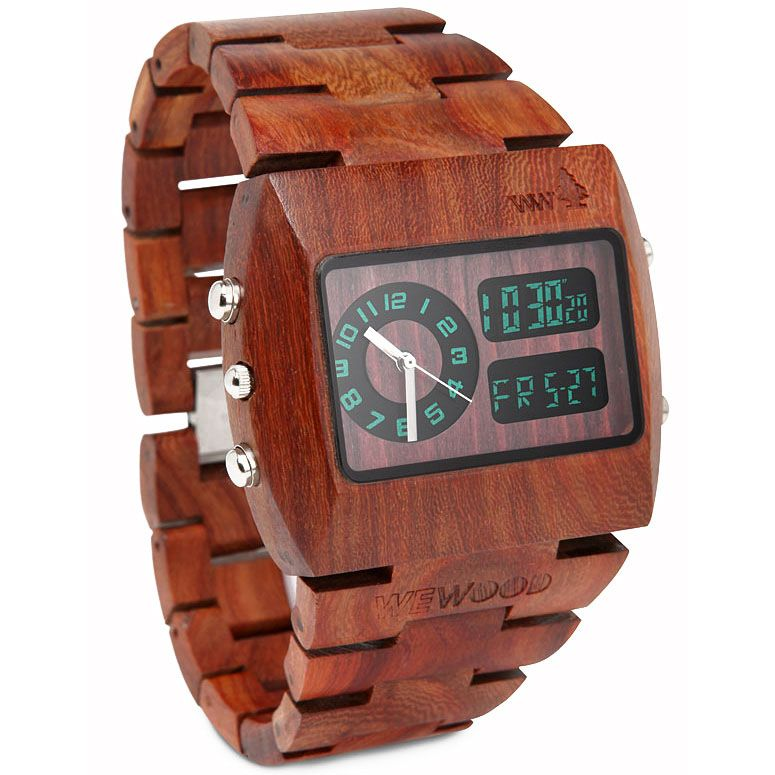Wewood Chrono 100 Natural Wood Watch Wooden Watch Wood Watch Watches For Men