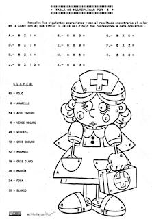 Tablas De Multiplicar Fichas Para Colorear Y Jugar Aula De Elena
