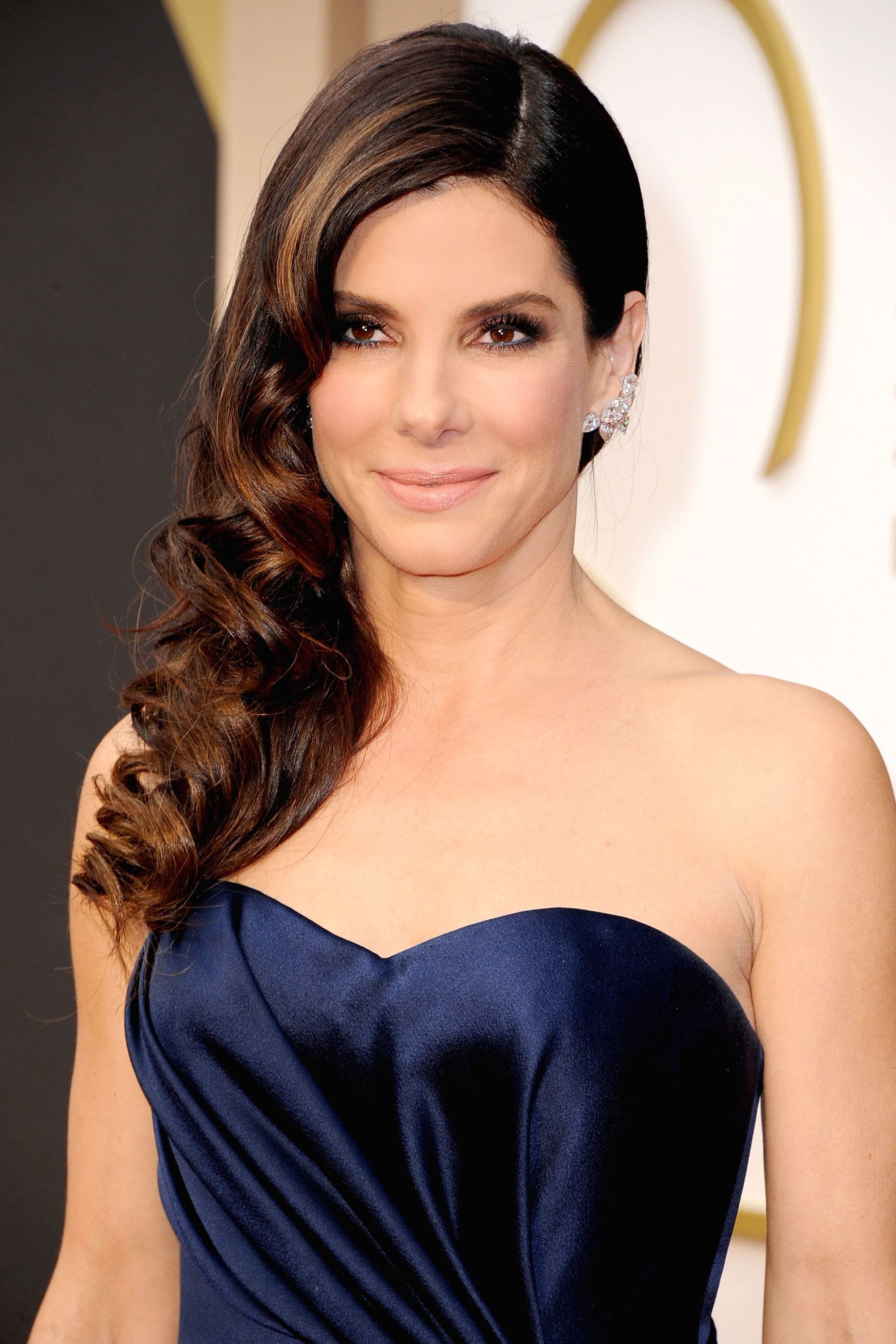 Sandra model nude Sandra Bullock nails the perfect vintage wave and smokey eye with nude lip.  Sheer perfection