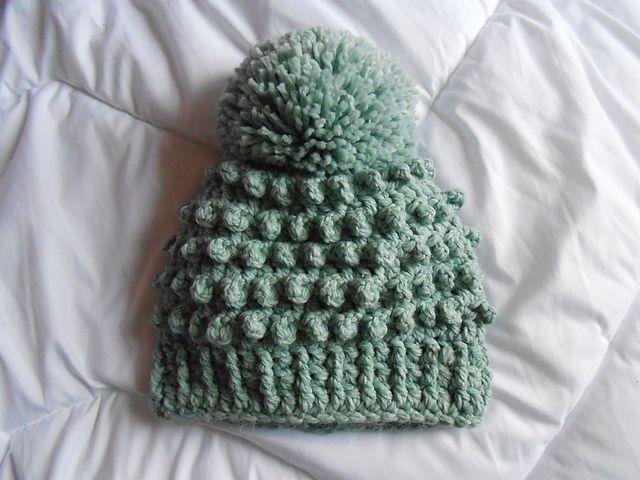 Ravelry: Bubble Hat Pompom, fre #crochet pattern by Dominique V.A. ...