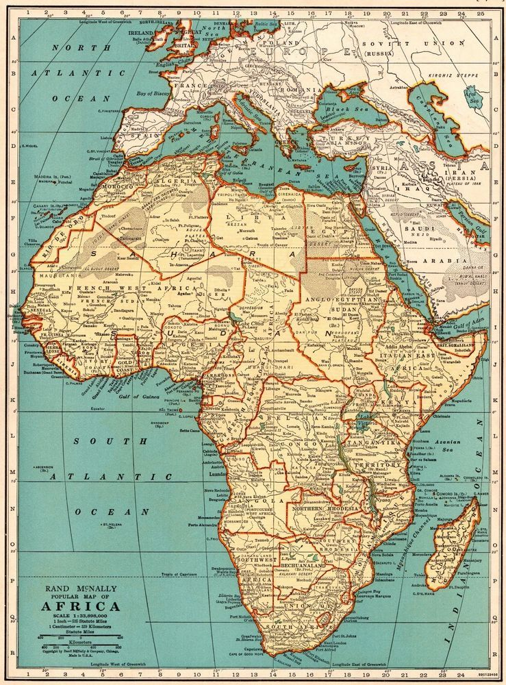 1939 vintage africa map antique collectible map of africa gallery 1939 vintage africa map antique collectible map of africa gallery wall art 5477 gumiabroncs Images
