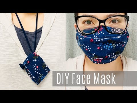 Photo of DIY Face Mask with Filter Pocket and Nose Wire | Glasses Wearer Friendly | No Sewing Machine