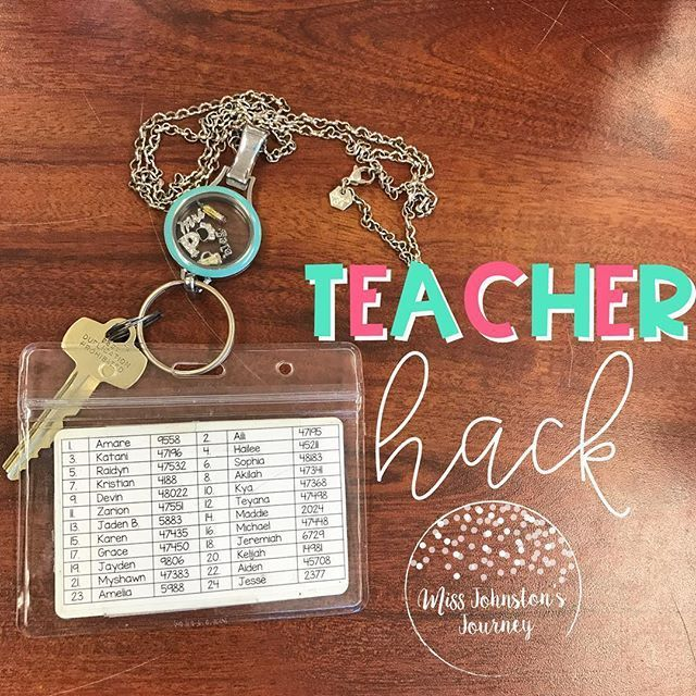Attach a Class List with Class Number + Lunch Number to the