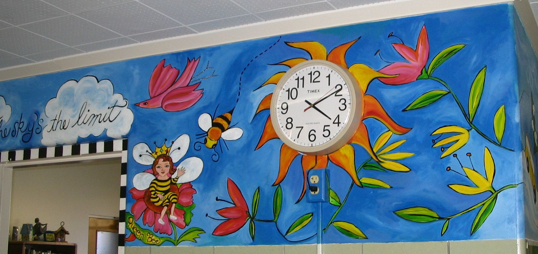 Principal' Office And Clock Murals School