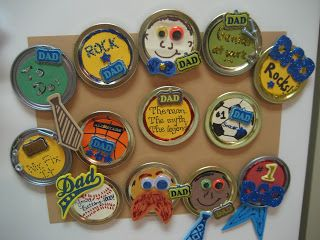 Father's Day Lid Magnets