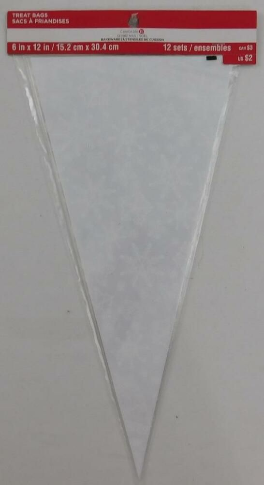 Celebrate It Christmas Snowflake Triangle Treat Bags New