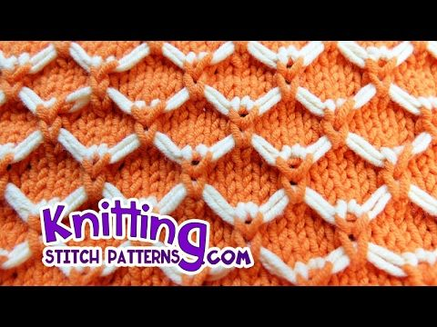easy Two Color Knitting Design no.12|Hindi - YouTube #butterflies