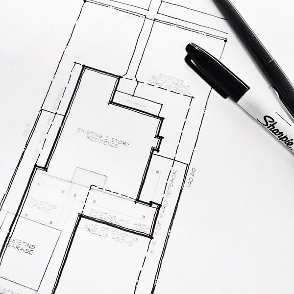 Architectural Sketch Site Plan Drawing In Layers Not Only