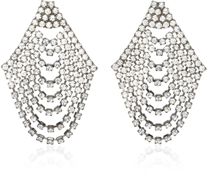 Jennifer Behr Seraphina Cascade Gunmetal-Plated Swarovski Crystal Earrings  perfect for holiday parties!  earrings Affiliate 98b798f903