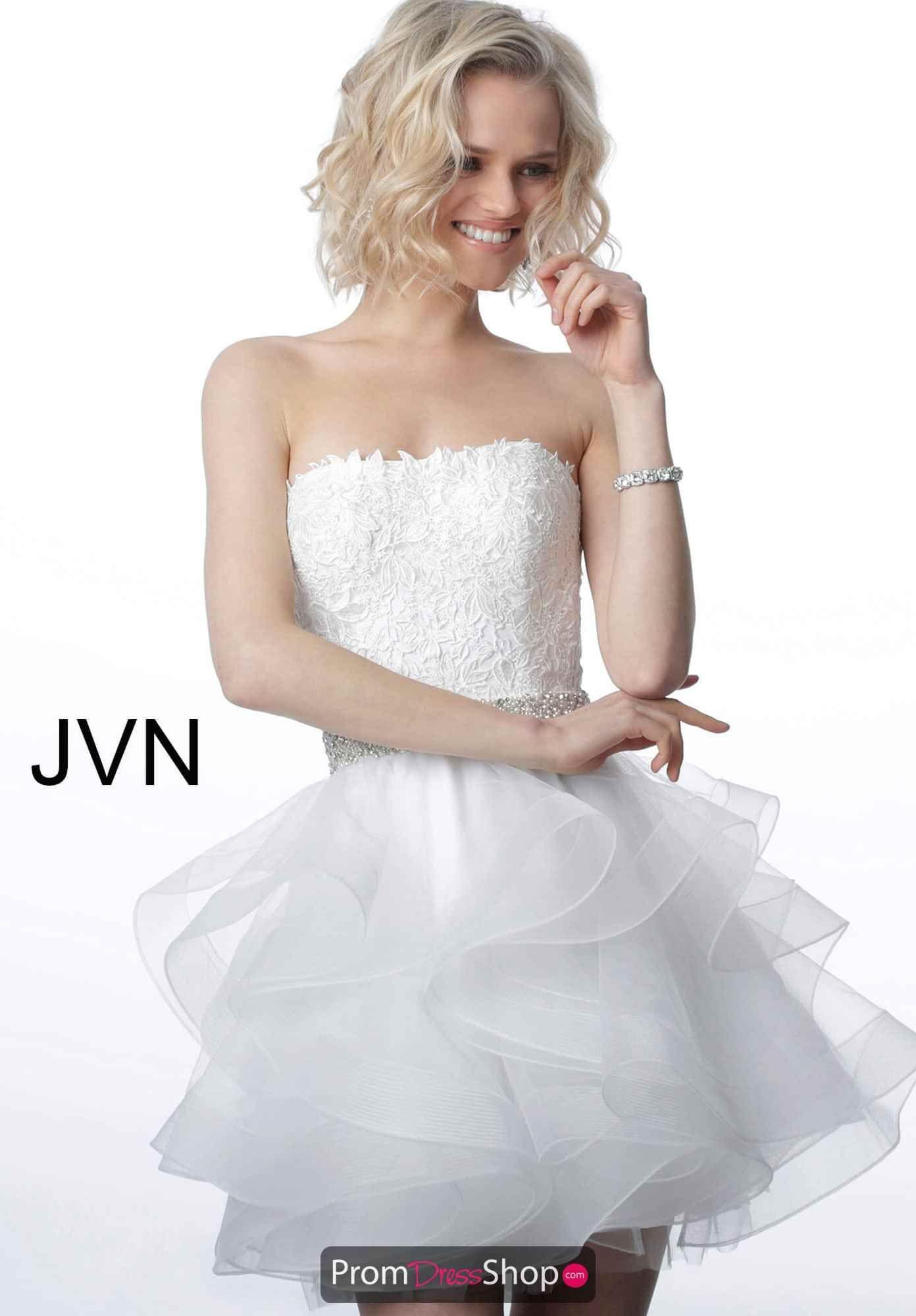 Jvn By Jovani Dress Jvn3099 Promdressshop Com Strapless Dresses Short Strapless Cocktail Dresses Fluffy Wedding Dress [ 2000 x 1392 Pixel ]